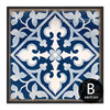 Blue and White Porcelain Moroccan Pattern Split Canvas Print