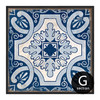 Blue and White Porcelain Moroccan Style Canvas Wall Art