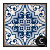 Blue and White Porcelain Moroccan Style Canvas Print