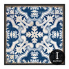 Blue and White Porcelain Moroccan Style Digital Canvas Print