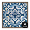 Chinese Style Blue and White Porcelain Moroccan Pattern Wall Decor