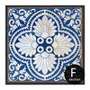 Chinese Style Blue and White Porcelain Moroccan Pattern Wall Art Canvas