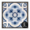 Chinese Style Blue and White Porcelain Moroccan Pattern Print Art