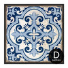 Chinese Style Blue and White Porcelain Moroccan Pattern Wall Art