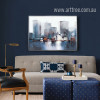 Modern Abstract NewYork Cityscape Painting Print (3)
