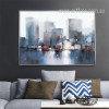 Modern Abstract NewYork Cityscape Painting Print (2)
