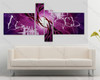 multi panel abstract painting Violet Base