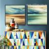 Sea Scenery Style Watercolor Art Painting Prints (2)
