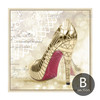 Modern Art Fashionable Lady Golden High Heels Design Canvas Art (2)