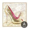 Modern Art Fashionable Lady Golden High Heels Design Canvas Art