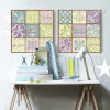 Fashionable Moroccan Pattern and Words Canvas Prints (3)