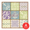 Fashionable Moroccan Pattern and Words Canvas Art