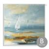 Blue Ocean Sailing Painting Print (2)