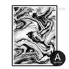Abstract Marble Design Black and White Print