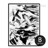 Abstract Marble Style Black and White Print