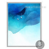 Abstract Blue Ocean Watercolor Wall Decor