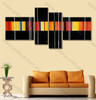 stripe painting canvas Colorful Lines