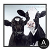 Cow Animal Design Black and White Cattle Print
