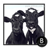 Cow Animal Design Black and White Cattle Artwork