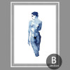 Abstract Watercolor Nude Woman Painting Print (2)