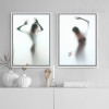 Naked Girl Shadow Wall Art Set