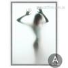 Naked Girl Shadow Canvas Print