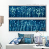 Blue and White Flowers Long Wall Art (2)