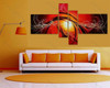 split wall painting Red Base