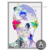 Abstract Watercolor Human Face Portrait Canvas Print