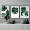 Monstera Leaf Design Green Botanical Prints (2)