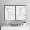 Couple Dancing Steps Design Black and White Canvas Prints (2)