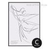 Minimal Dancing Couple Design Black and White Art