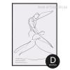 Minimalist Dancing Couple Design Black and White Art