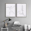 Dancing Couple Design Black and White Canvas Prints (2)