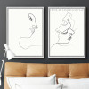 Minimal Line Drawing Woman Face Design Black and White Prints (2)