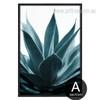 Tropical Blue Green Botanical Art
