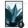 Tropical Blue Green Botanical Print
