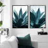 Tropical Blue Green Plants Botanical Prints (3)