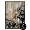 Modern Abstract Gems Apricot Color Canvas Print