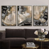 Abstract Gems Apricot Color Painting Prints (2)