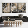 Abstract Gems Apricot Color Painting Prints (3)