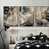 Abstract Gems Apricot Color Painting Prints