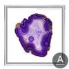 Abstract Purple Onyx Gems Design Canvas Print
