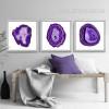 Modern Abstract Purple Onyx Gems Design Canvas Prints
