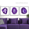 Modern Abstract Purple Onyx Gems Design Canvas Prints (2)