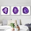 Modern Abstract Purple Onyx Gems Design Canvas Prints (3)