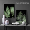 Modern Fern Plant Life Green Botanical Prints (3)