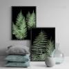 Modern Fern Plant Life Green Botanical Prints (2)