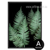 Modern Fern Plant Life Green Botanical Art