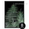 Modern Fern Plant Life Green Botanical Print